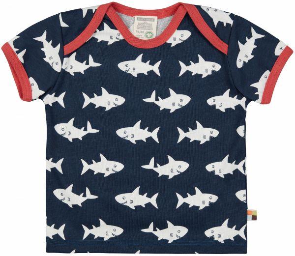 T-Shirt Druck - Ultramarin Hai