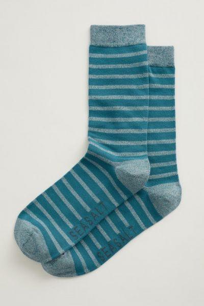 Men's Sailor Socks - Breton Gouache Zinc