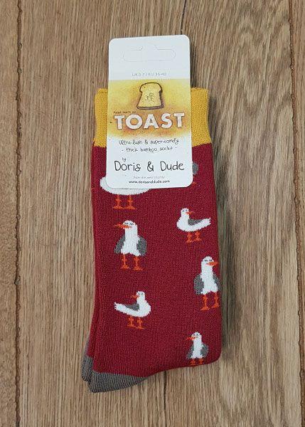 Socks Magenta Seagull Toast