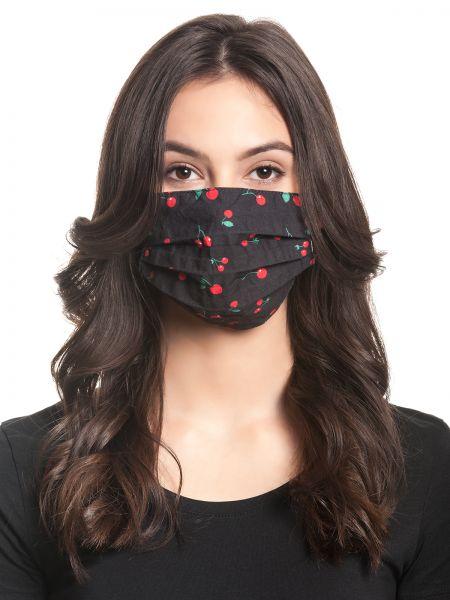 PD Cherries Mask - black allover
