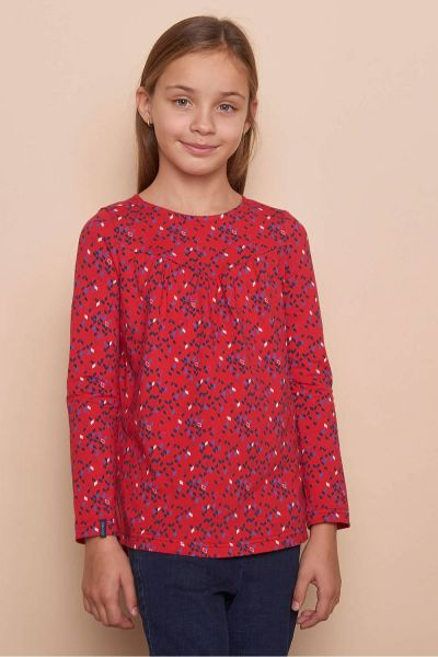Kinder Langarmshirt VALA (GOTS) - red kite