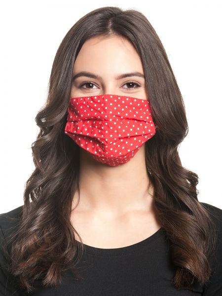 PD Dots Mask - red allover