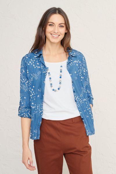 Larissa Shirt Murmuration Cornish Blue