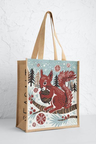 Jute Shopper Red Squirrel