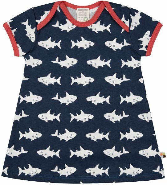 Kleid Druck - Ultramarin Hai