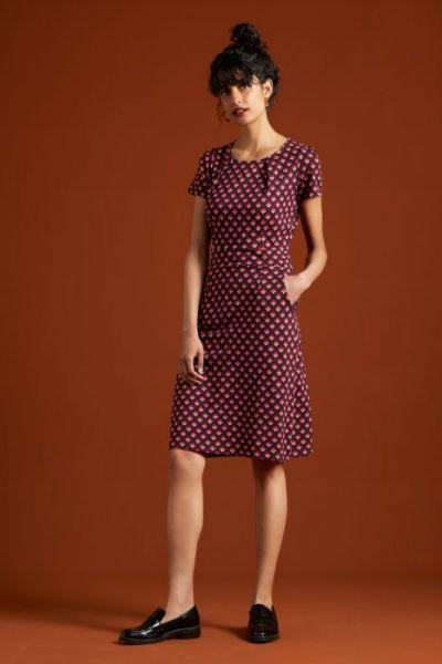 Mona Dress Pose - Grape Red