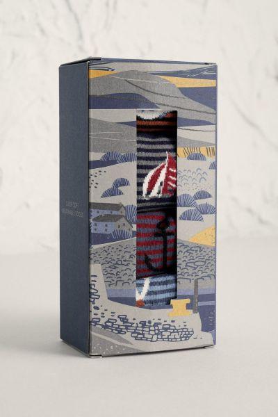 Men's Sailor Socks Box of 4 Steersman Mix