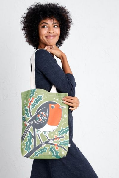 Canvas Shopper - Christmas Robin