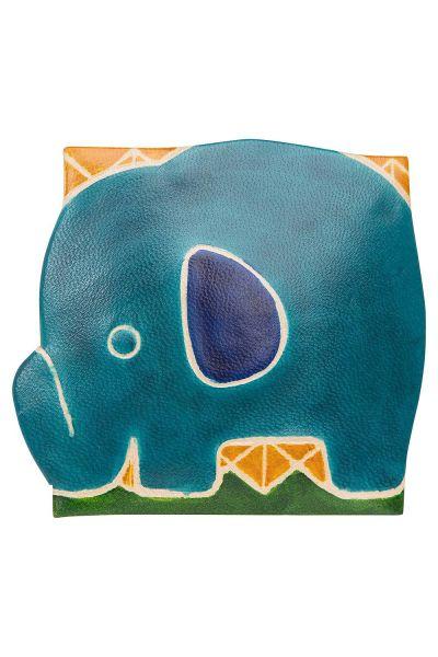 Ledergeldbörse - Elefant