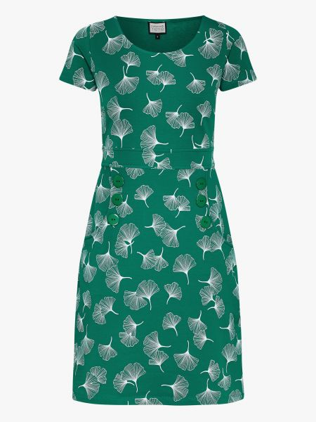 Oh My Lola - Dress - Ginko Leaves Green