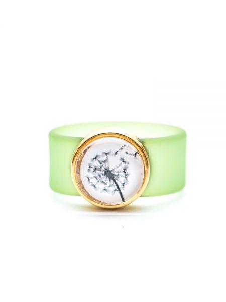 Ring aus Sliderperle gold - Pusteblume