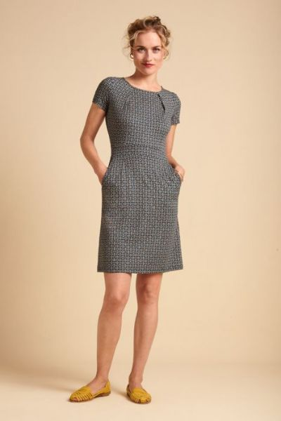 Mona Dress Bourbon - Dragonfly Green