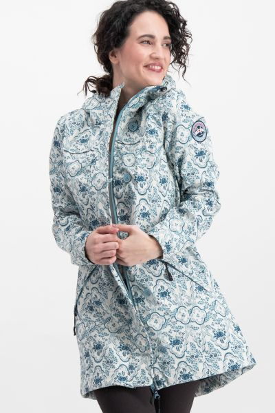 wild weather long anorak - delft porcelain