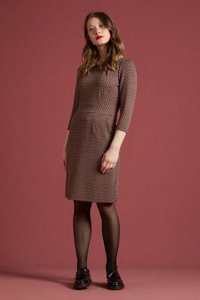 Mona Dress Conte - Grape Red