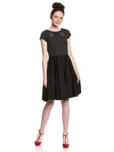 PD Mini Dots Pettycoat Dress - black allover