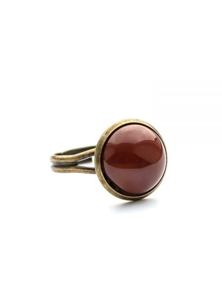 Ring bronze - Edelstahl Karneol