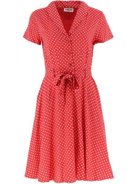Kleid Polka - red