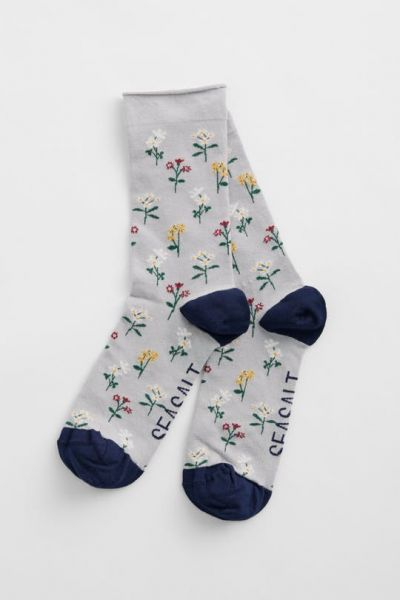 Women's Bamboo Arty Socks - Spring Flowers Bass