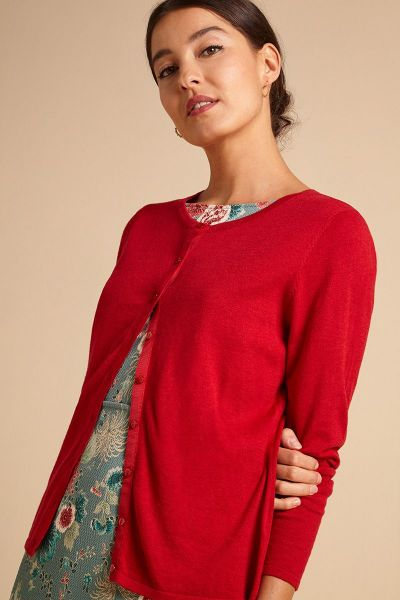 Cardi Roundneck Cocoon - Icon Red