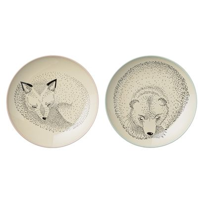 Adelynn Plate Set - white
