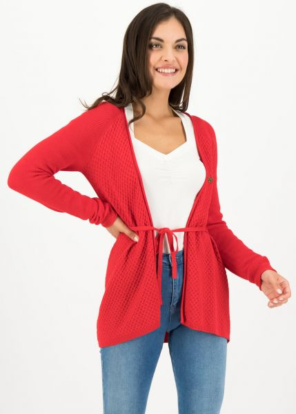light hearted envelope cardy - red cosy knit