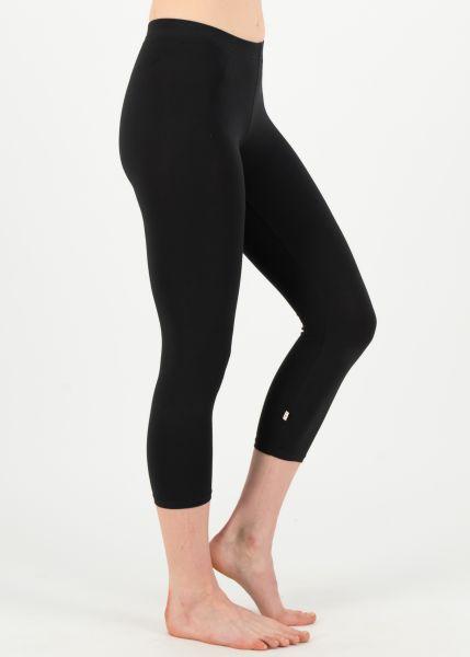 logo 3/4 leggings - simply black