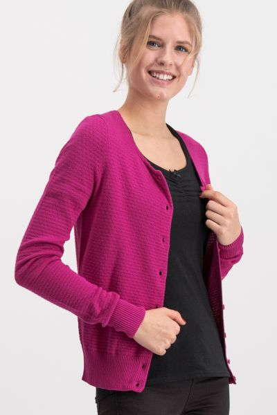 save the brave cardy - pink waffle