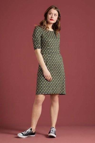Mona Dress Noshi - Olive Green