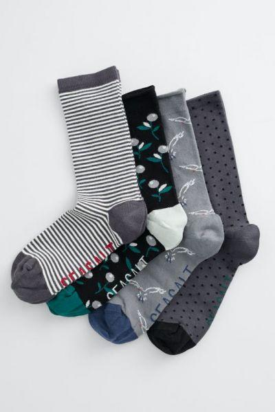 Women's Stormy Seas Socks Box of 4 Untamed Shore Mix