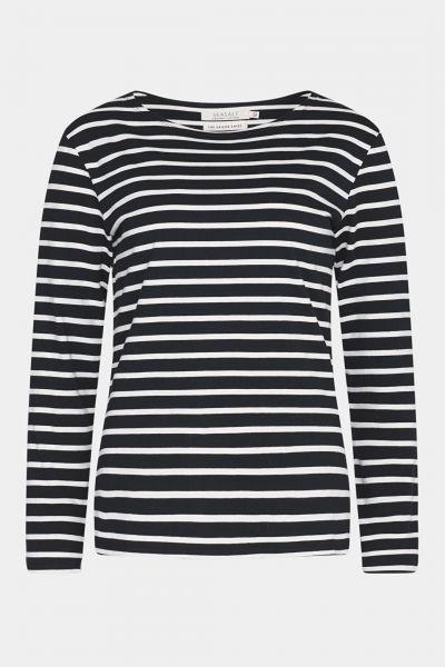 Sailor Shirt Breton Black Ecru schwarz mit weißen Streifen