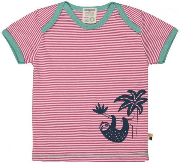 T-Shirt Ringel m. Druck - Azalea - Faultier