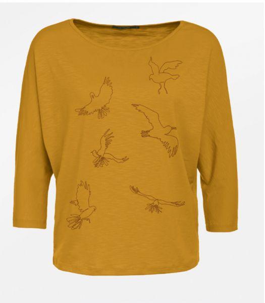 Animal Birds Line Smile - Golden Yellow