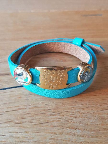 Armband mit Slider-Perlen Vogel / Ananas