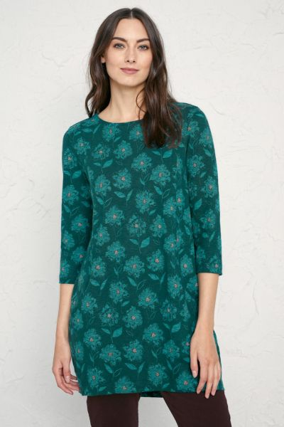 Shore Foraging Tunic Painted Blooms Thicket