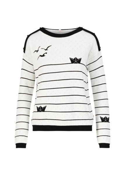 sea promenade sweater - white classic