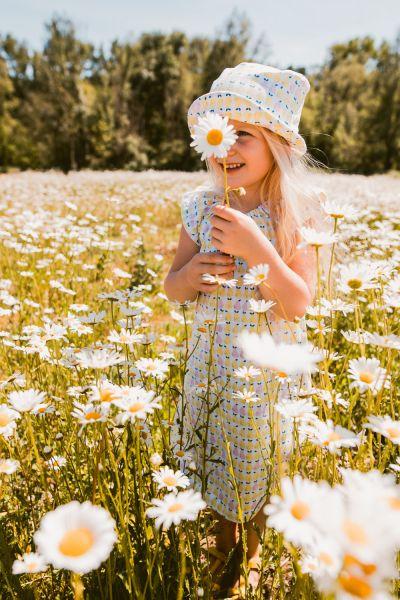 Kleid Butterfly - Birne