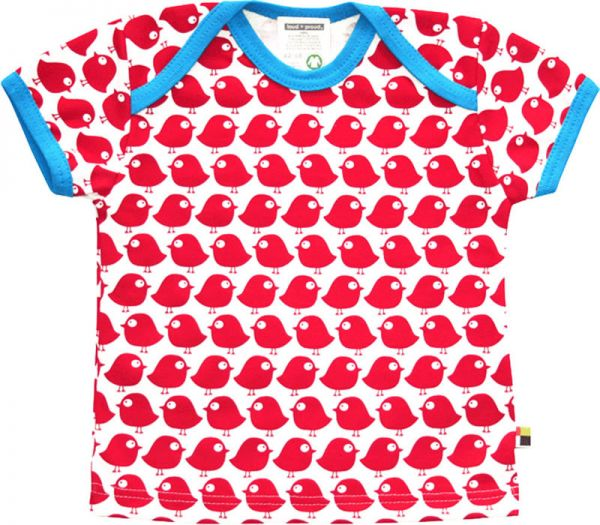 T-Shirt Vogel - tomato