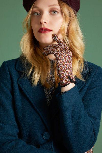 Glove Conte - Beet Red