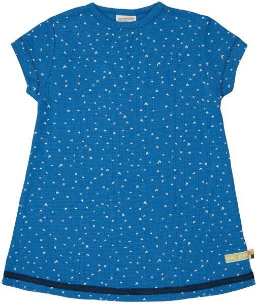 Kleid Waffel - Cobalt