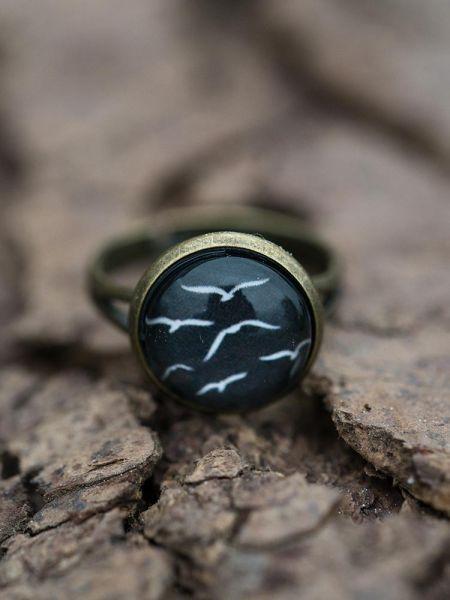 Ring bronze - Möwen