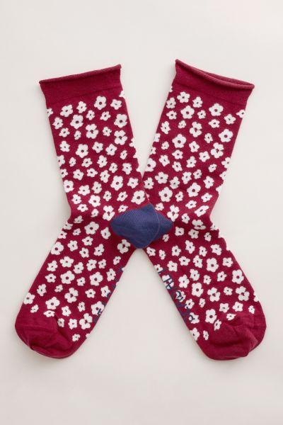Womens Arty Socks Five Farm Poppy