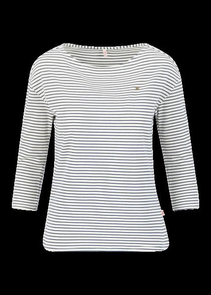 logo stripe 3/4 arm shirt - blue tiny stripe