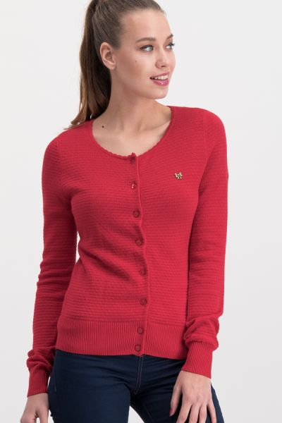 save the brave cardy - red waffle