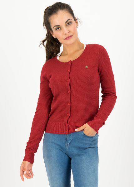 ladyklappe cardigan - red glitter