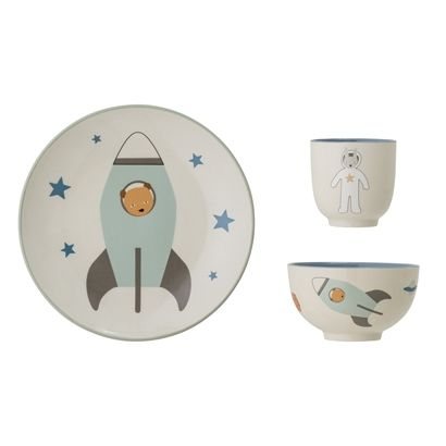 Space Tableware - blue