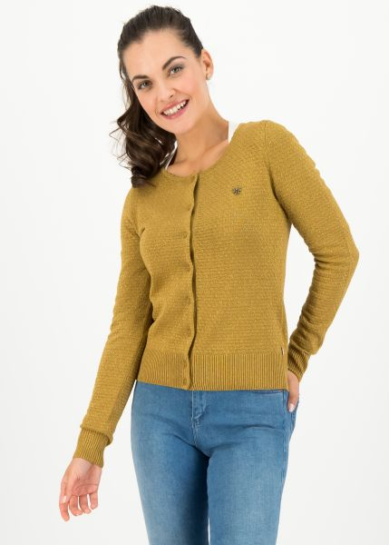 ladyklappe cardigan - gold glitter