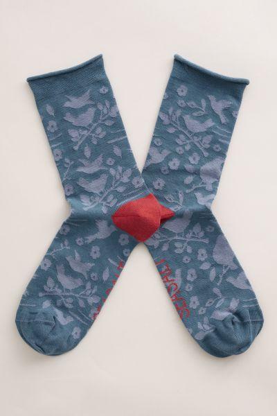 Womens Arty Socks Winged Flurry Dark Eden
