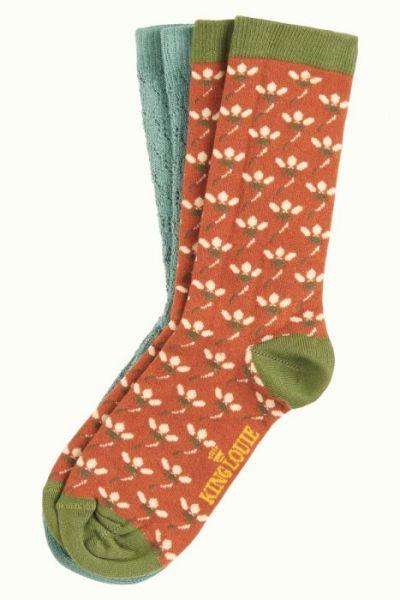 Socks 2-Pack Nalini - Brunette Brown