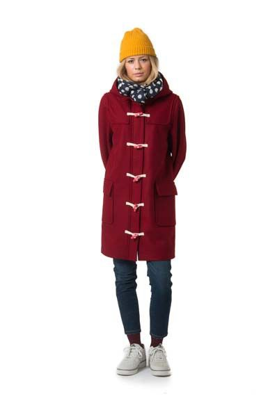 Scones Duffle Coat - Rust Red