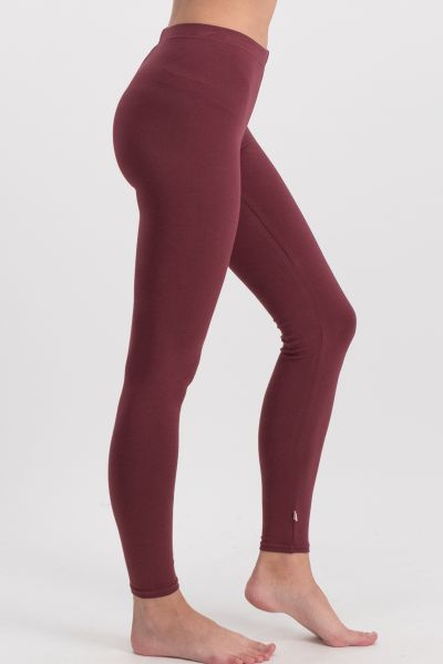 logo leggings - back to bordeaux